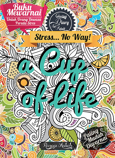 coloring diary for adult a cup of life sc kubusmedia