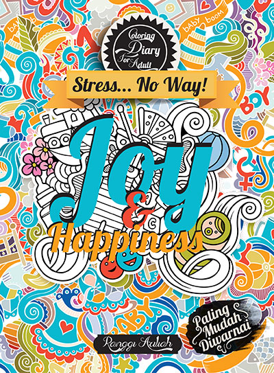 coloring diary for adult joy happiness kubusmedia