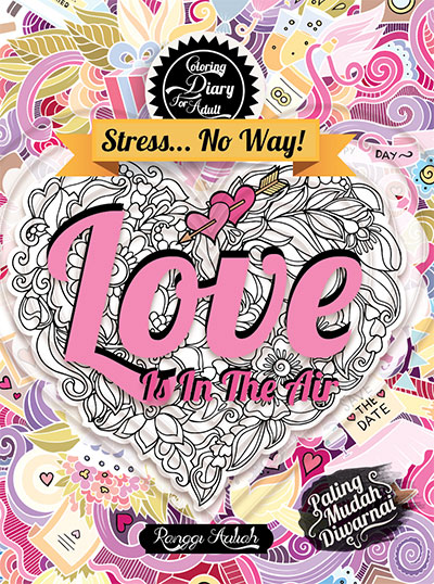 coloring diary for adult love is in the air hc kubusmedia