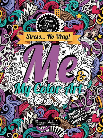 coloring diary for adult me my color art hc kubusmedia