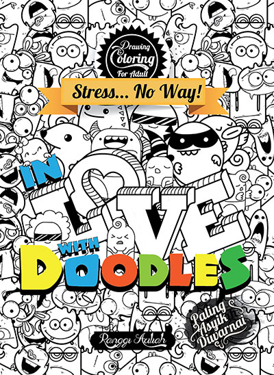 drawing coloring for adult in love with doodles sc kubusmedia